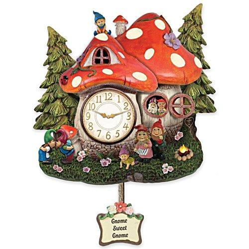 Gnome Family Wall Clock