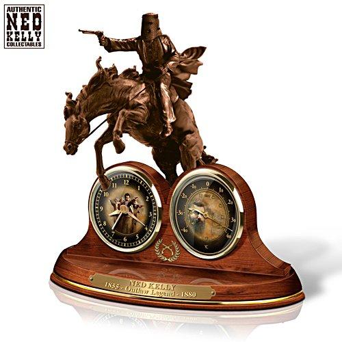 Ned Kelly Outlaw Legend Desk Clock