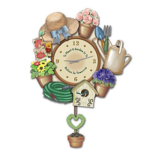 Joy of Gardening Sculptural Wall Clock