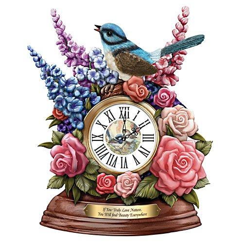 Fairy Wren Sculptural Desk Clock