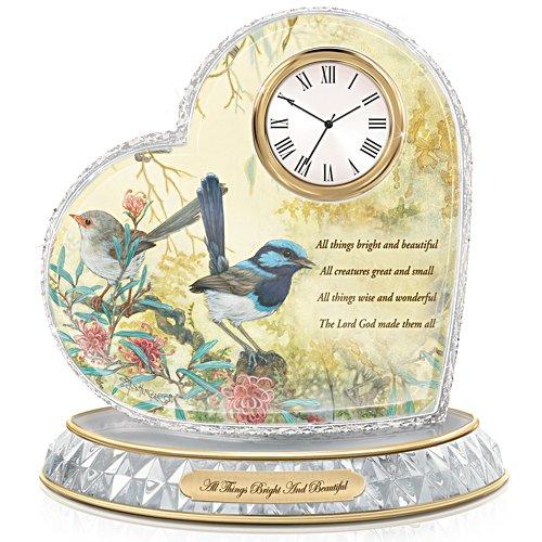 Fairy Wren All Things Bright and Beautiful Art Clock