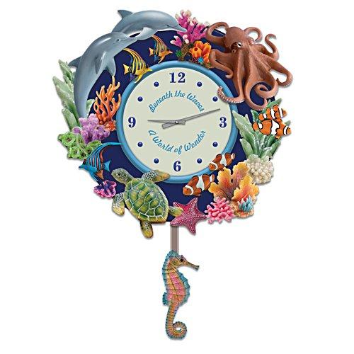 Wonderful Creatures Under The Sea Sculptural Wall Clock
