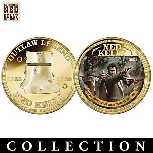 Ned Kelly Outlaw Legend Golden Proof Coin Collection