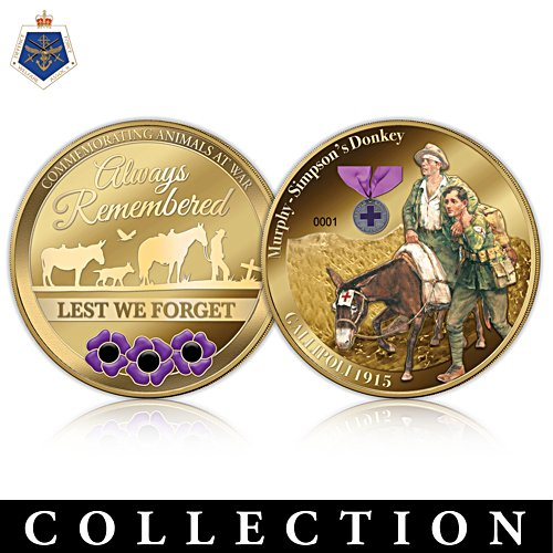 Recognising War Animals Commemorative Golden Proof Coin Collection