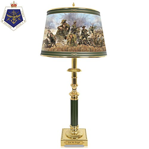 Lest We Forget 'Ode Of Remembrance' Table Lamp