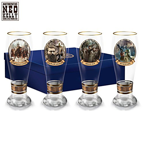 Ned Kelly Pilsner Glass Set