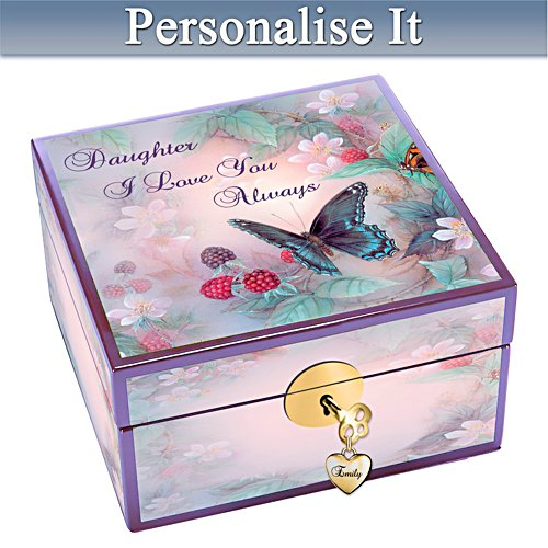 Daughter, I Love You Personalised Jewellery box