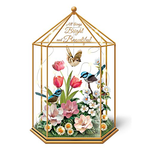'Fairy Wren' All Things Bright and Beautiful Glass Terrarium.