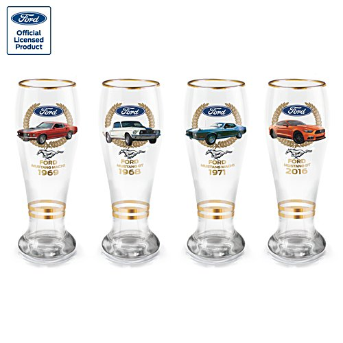 Ford Mustang Beer Glass Set