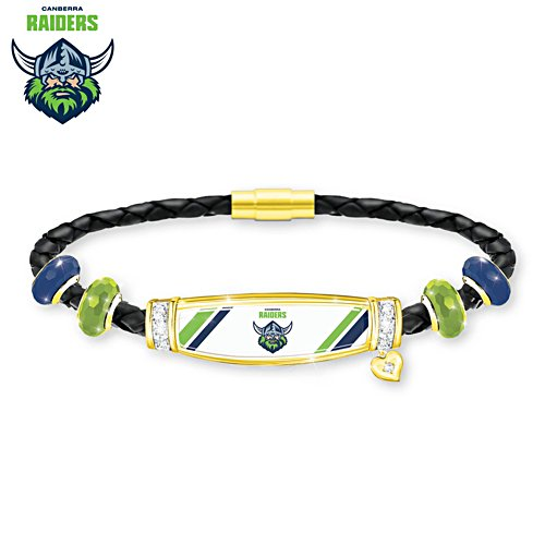 NRL Canberra Raiders Ladies Leather Bracelet