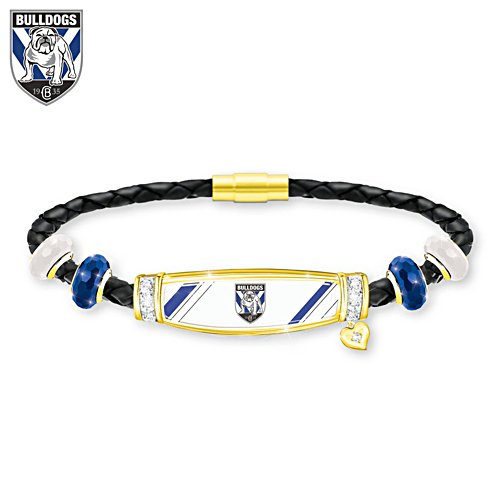 NRL Canterbury Bulldogs Ladies Leather Bracelet