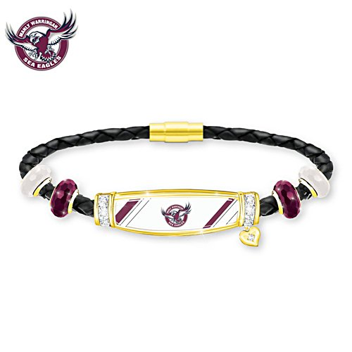 NRL Manly Sea Eagles Ladies Leather Bracelet