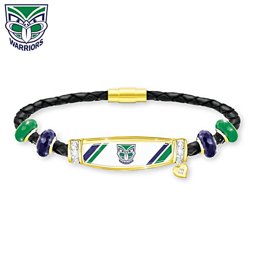 NRL New Zealand Warriors Ladies Leather Bracelet