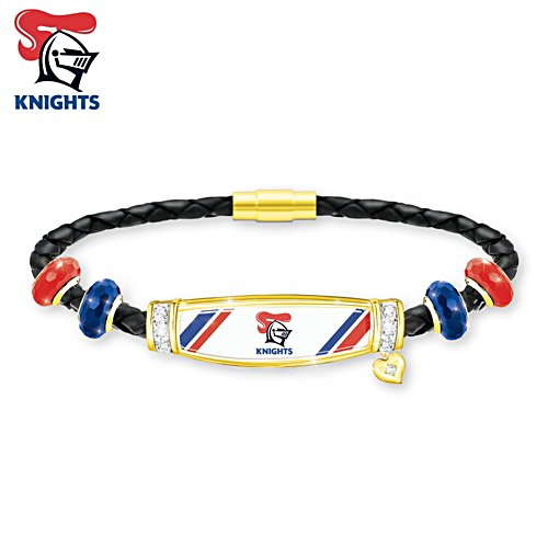 NRL Newcastle Knights Ladies Leather Bracelet