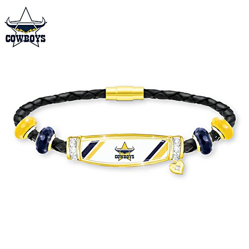 NRL North Queensland Cowboys Ladies Leather Bracelet