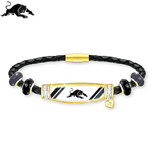 NRL Penrith Panthers Ladies Leather Bracelet