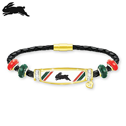 NRL South Sydney Rabbitohs Ladies Leather Bracelet