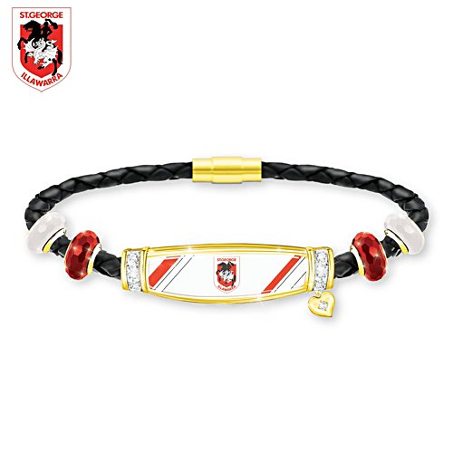 NRL St. George Dragons Ladies Leather Bracelet