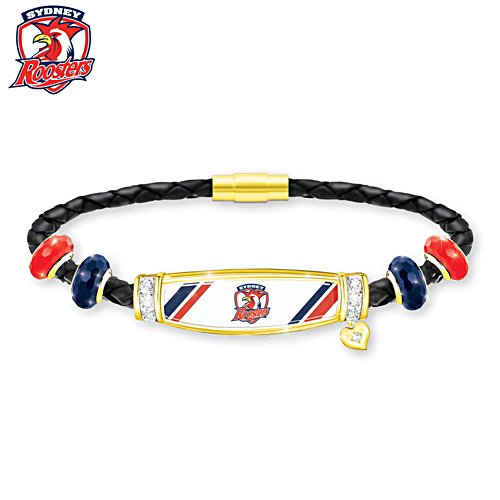 NRL Sydney Roosters Ladies Leather Bracelet
