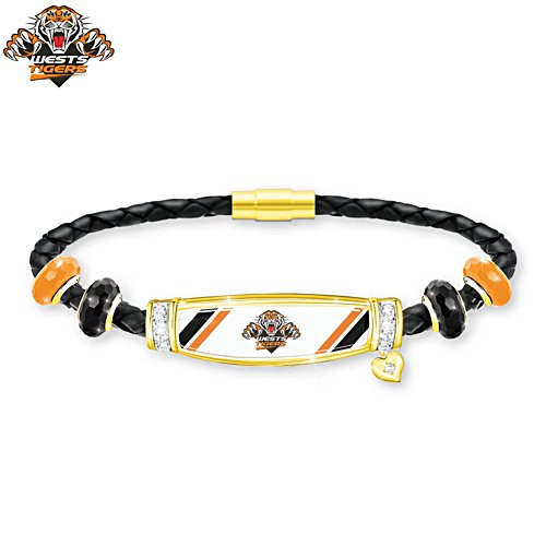NRL Wests Tigers Ladies Leather Bracelet