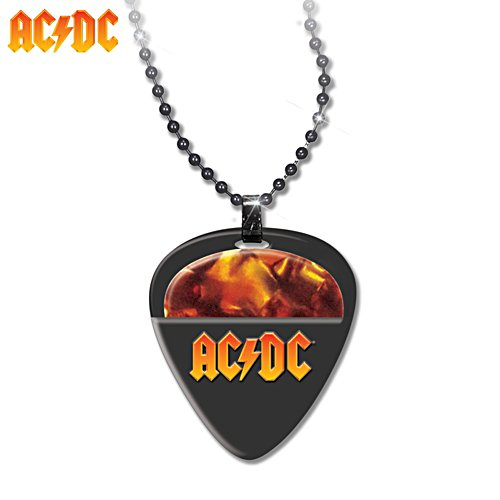 AC/DC Guitar Pick and Pendant