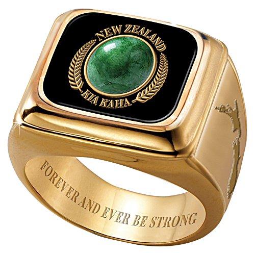 Kia Kaha Jade Gold Ring