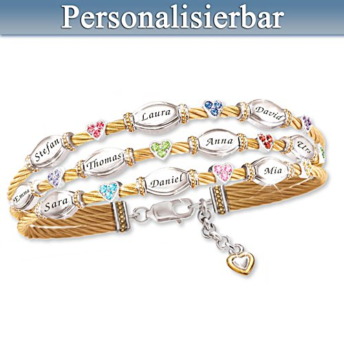 Familienliebe - Personalisiertes Armband