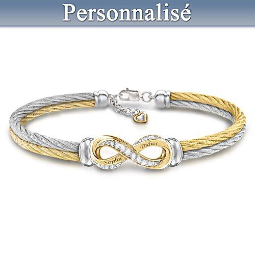 Amour éternel - Bracelet avec topazes, personnalisé