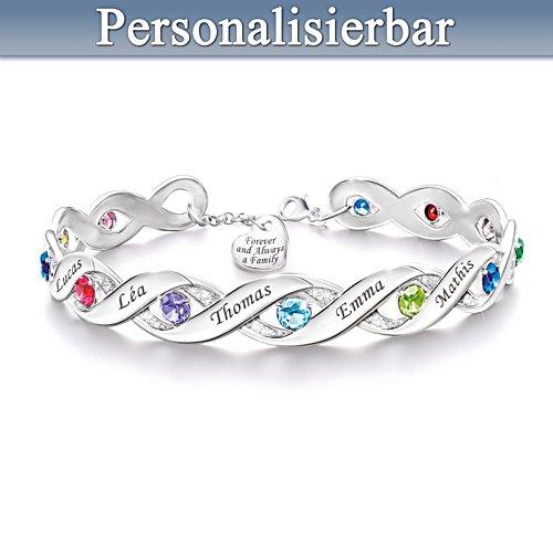 Für immer eine Familie – Personalisiertes Armband