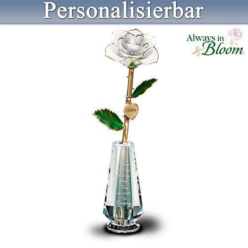 Unsere Liebe hält für immer – Rose in Glasvase