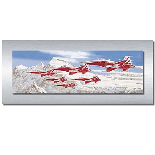 """Das Panorama-Gemälde """"Patrouille Suisse"""""""