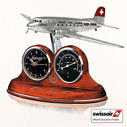 """Die Tischuhr - """"DC-3 - Legende der SWISSAIR"""""""