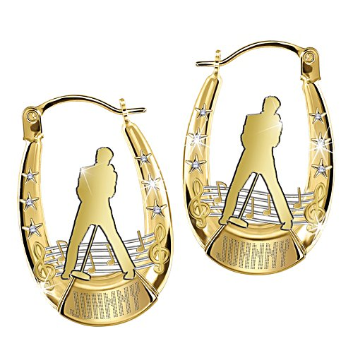 Johnny Hallyday - Boucles d'oreilles Swarovski® exclusives