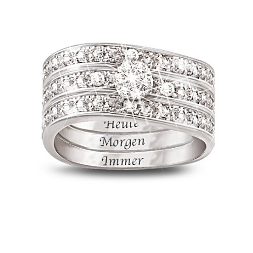Heute - Morgen - Immer - Diamantring