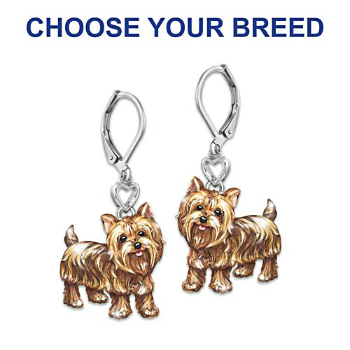 """Playful Pups"" Dog Earrings With Movable Legs And Tail"