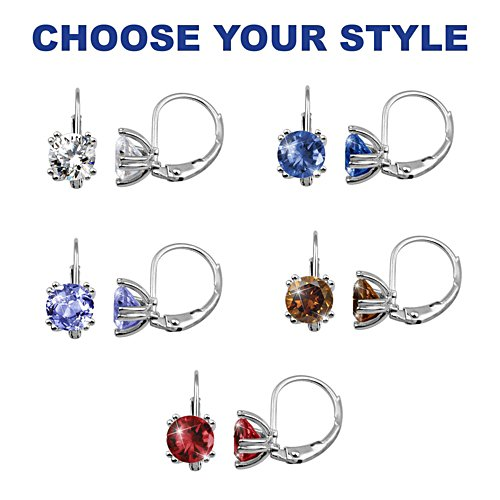 """Classic Glamour"" Diamond Drop Earrings: Choose From 5 Colours"