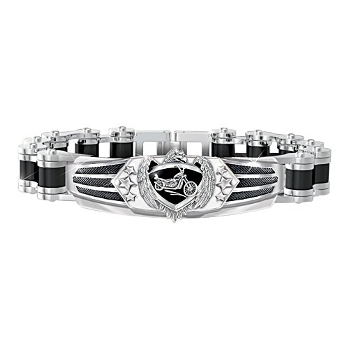 Ride Hard, Live Free Motorcycle Chain Bracelet