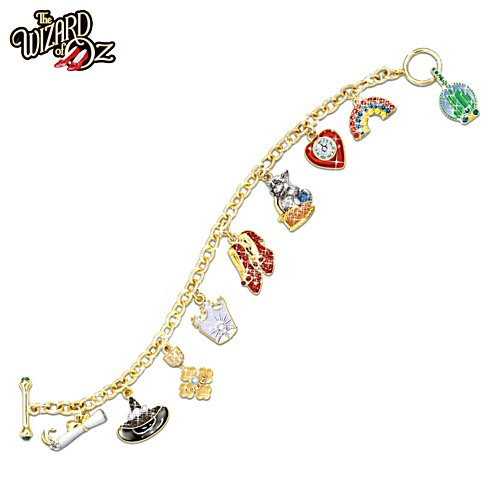 "Wizard Of Oz ""Over The Rainbow"" Charm Bracelet"