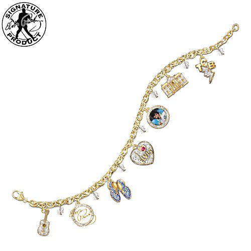 "The Elvis Presley ""Showstopper"" Crystal Charm Bracelet"