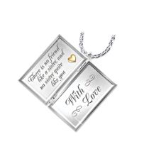 """""""Dear Sister"""" Diamond Locket Necklace For Sisters"""