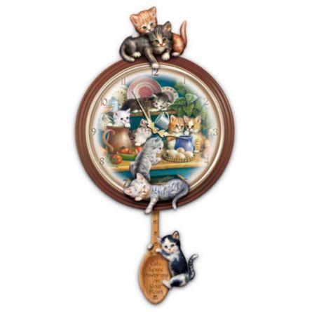 J 252 Rgen Scholz Kitten Art Wall Clock J 252 Rgen Scholz