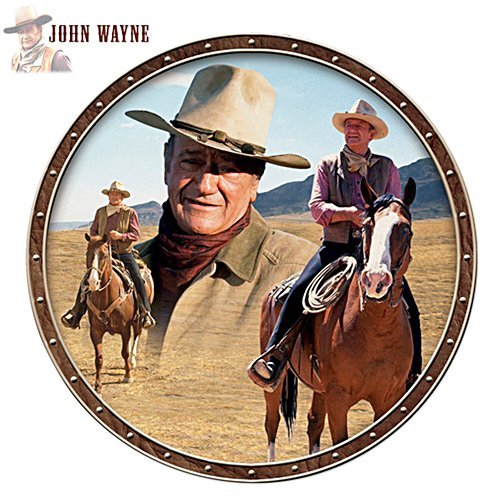 """John Wayne, Taming the West"" Collector Plate"