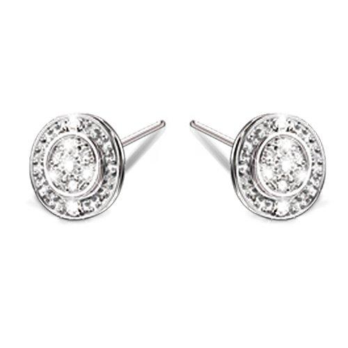'Hidden Message Of Love' Diamond Earrings