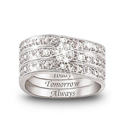 Kärlekens Trio - diamantring