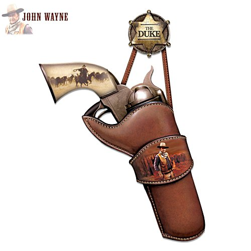 John Wayne Replica Pistol Wall Décor Art