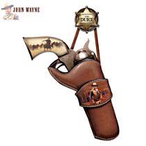 John Wayne Replica Pistol Wall Décor Art
