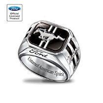 "Ford Mustang ""Untamed American Spirit"" Men's Sterling Silver Ring"
