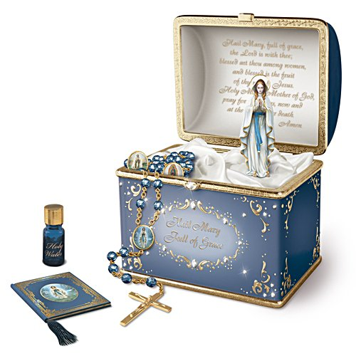 'Our Lady' Musical Porcelain Prayer Box