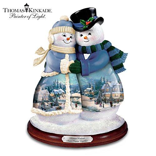 Gemeinsame Schnee-Freude – Schneemann-Figurine