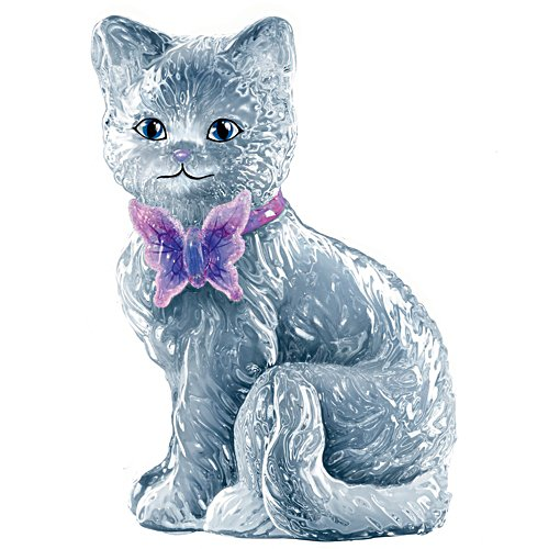 Flutter Glass Cat Figurine